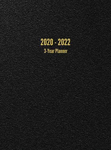 2020 - 2022 3-Year Planner: 36-Month Calendar (Black)