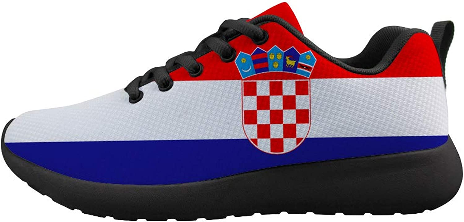 Owaheson Cushioning Sneaker Trail Running shoes Mens Womens Croatia Flag