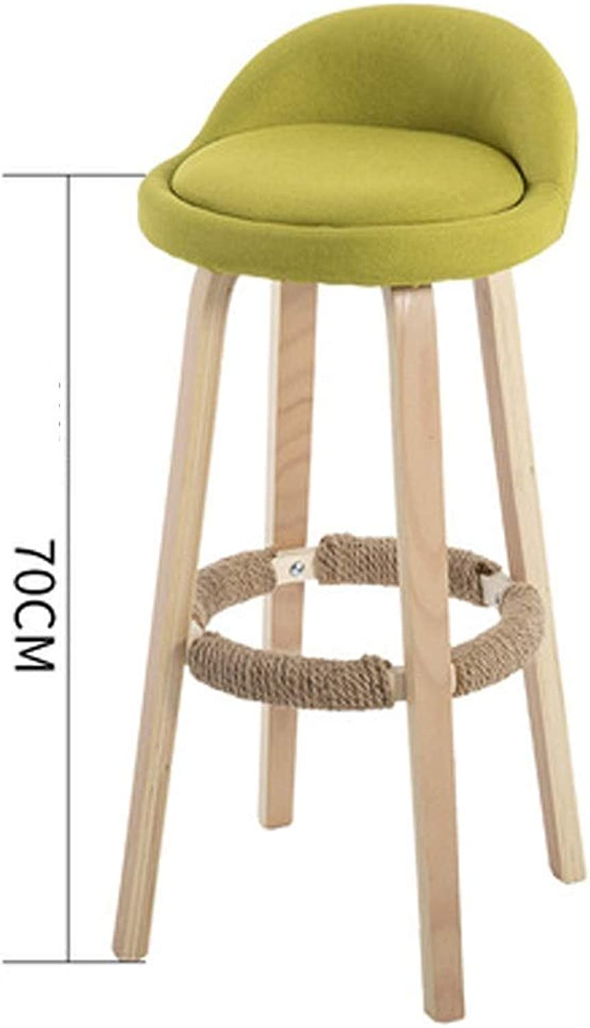 Bar Chair Curved Wood high stools Home bar Stool European bar Chair Front high Chair Front bar Chair Nordic FENPING (color   A)