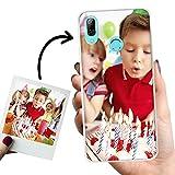 Phone Case Trends Funda Huawei P Smart 2019 Personalizada con tu Foto o Texto – Carcasa Móvil personalizable de Gel Flexible - Funda Transparente, Antigolpes y de Silicona - Impresión Directa en Funda
