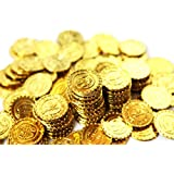 【SCGEHA】宝箱 アンティーク 風 海賊 パイレーツ 財宝 お宝 金貨 秘宝 ゴールド コイン 500枚 (金貨500枚)