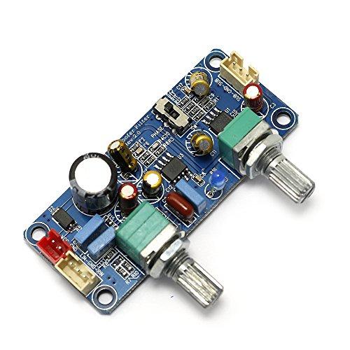 Q-BAIHE DC Einzelspannungsversorgung 9V-32V Tiefpassfilterplatte Subwoofer Frontplatte mit Zoom- und Phaseneinstellung