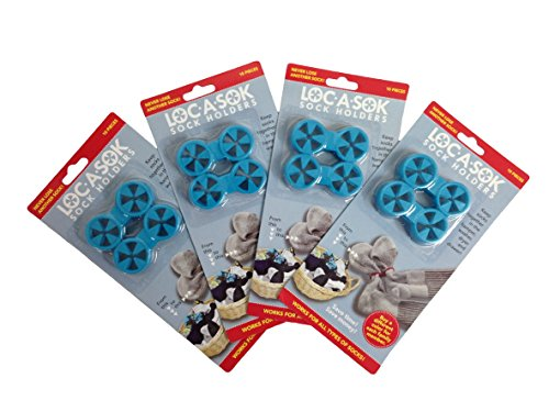 Loc A Sok Sock Locks (Pack of 40 - All Blue)