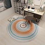 cuadros salon modernos grandes alfombras salon modernas Alfombra naranja azul gris Resumen de la decoración circular de la sala de estar no arroja el pelo alfombra esparto 200X200CM 6ft 6.7'X6ft 6.7'