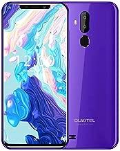 OUKITEL C12 Unlocked Cell Phones Dual SIM Mobile Phone 6.18 Inch 19:9 Full-Screen Display 3300mAh Battery Global 3G Android 8.1 Smartphone Quad Core 2GB + 16GB Fingerprint & Face Unlock, Purple