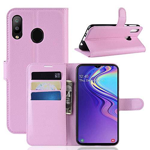 Capa Capinha Carteira 360 Para Samsung Galaxy M20 Tela De 6.3Polegadas Case Couro Flip Wallet - Danet (Rosa)