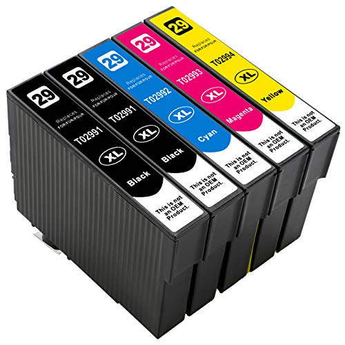 ESMOnline kompatible Druckerpatronen als Ersatz für Epson 29/29XL (Schwarz, Cyan, Magenta, Gelb; 5er Set) für Expression Home XP-455 452 445 442 435 432 355 352 345 342 335 332 257 255 247 245 235