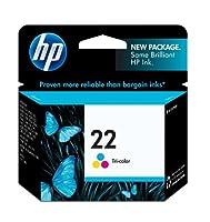 HP 22 Tri-color Original Ink Cartridge (C9352AN) 【Creative Arts】 [並行輸入品]