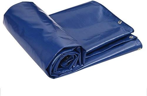 SSYBDUAN Bache, Prougeection Anti-Vent Cargo Poncho Imperméable Auvent épaissi Bleu PVC, Epaisseur 0.5mm, (2m × 3m)