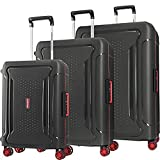 American Tourister Tribus Hardside Luggage with Spinner Wheels, Black, Checked-Large 29-Inch