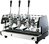 La Pavoni Bar T 3L-B Lever Espresso Coffee Machine with Chromed Brass Groups, Golden Black, 22.5 Liter Boiler, Manual Boiler Water Charge Button, Manometer for the Boiler Pressure Control