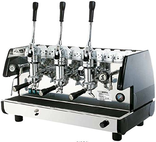 For Sale! La Pavoni Bar T 3L-B Lever Espresso Coffee Machine with Chromed Brass Groups, Golden Black, 22.5 Liter Boiler, Manual Boiler Water Charge Button, Manometer for the Boiler Pressure Control