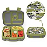 Bentgo Kids Prints (Camouflage) - Leak-Proof, 5-Compartment Bento-Style Kids Lunch Box - Ideal...