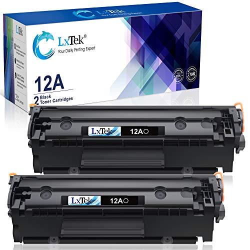 LxTeK Cartucho de tóner compatible para impresoras HP 12A Q2612A para usar con impresoras Laserjet...