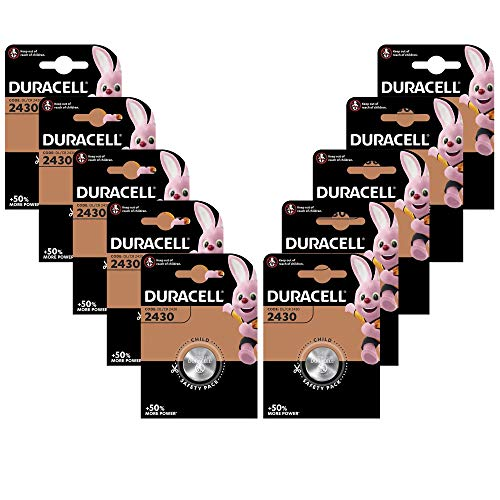 10er Set Duracell Knopfzelle Lithium Batterie (CR2430 D)