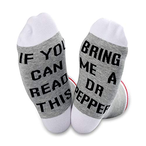 TSOTMO 2 Pairs If You Can Read This Bring Me a Diet Dr Pepper Socks (Dr Pepper Socks)