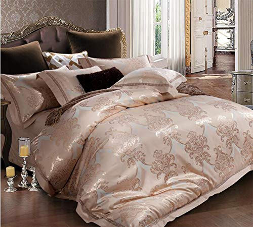 Buy Discount HUROohj Satin Jacquard,The New Bedding Four Sets,European Style£¬Bedding Kits£¨ 4 P...