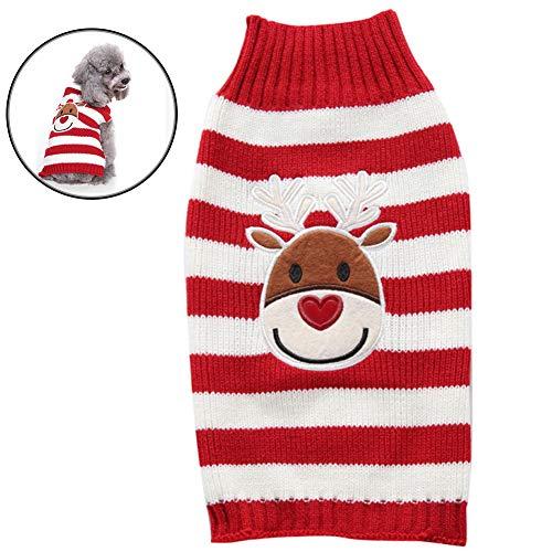 Bongles Ropa Caliente Suéter del Perro De Navidad del Reno De La Historieta Linda del Animal Doméstico De Navidad del Perro De Invierno Suéter De Punto