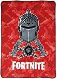 Fortnite Red Knight Camo Blanket - Measures 62 x 90 inches, Kids Bedding - Fade Resistant Super Soft Fleece (Official Fortnite Product)