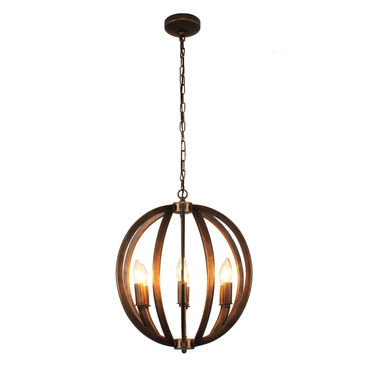 Hedendaags Ironclad Ceiling Pendant in Bronze - - Amazon.com NI-69