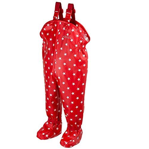 BMS Krabbelhose Babybuddy Softskin - rot mit weißen Sternen - 8-16 Monate