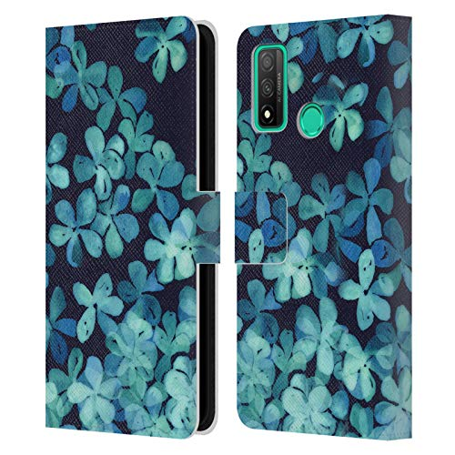 Head Case Designs Licenciado Oficialmente Micklyn Le Feuvre Patrón Floral Pintado a Mano. Florales 2 Carcasa de Cuero Tipo Libro Compatible con Huawei P Smart (2020)
