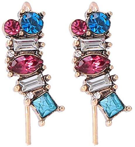 Pendientes Colgantes con Motivos Florales de Cristal Para Mujer Colgantes Coloridos Barrocos Bohemios Joyería de Fiesta Vintage