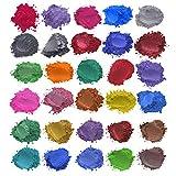 duquanxinquan Epoxidharz Farbe Mica Pulver 24/30 Farben Seifenfarbe Set für Badebomben,...