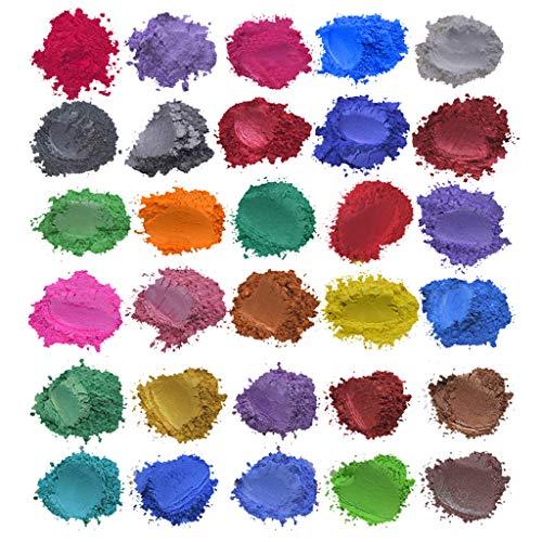 Y56(TM) Seifenfarben, Epoxidharz Farbe Metallic, Seifenfarbe Set, Farbe Pigment Farbpulver Mica Pulver für Seifenherstellung Epoxy Harz Resin, 30 Farben x5g