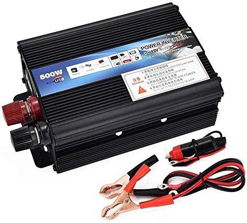 Convertidor de voltaje 500W inversor de coche sinusoidal puro DC 12V / 24V a AC 220V / 230V / 240V Convertidor - Convertidor de inversor con enchufe universal y conexión USB, para coche, caravana, bar