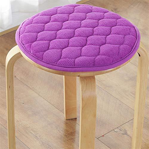CDDSML Anti-Slip Student Chair Cushion Sedia da Ufficio Pad Cravatta sul Sedile da Pranzo Cuscino Sgabello Rotondo Velvet Sgabello Pad 6 Taglie Piano Morbido Sit Cuscino