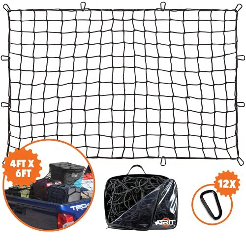 4'x6' Super Duty Truck Cargo Net for Pickup Truck Bed Stretches...