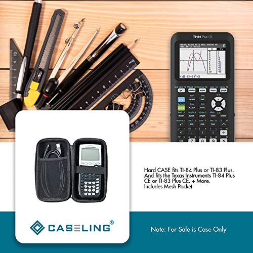 Caseling Graphing Calculator CASE fits TI-84 Plus or TI-83 Plus. And fits the Texas Instruments TI-84 Plus CE or TI-83 Plus CE. + More. Includes Mesh Pocket for Accessories (Renewed) Photo #7
