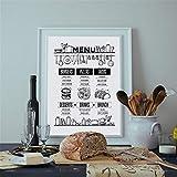Danjiao Pizza Recipe Food Brochure Wall Art Print And Poster Hand Drawn Food Cafe Menu Canvas Poster Poster Restaurant Decoración De La Pared Sala De Estar Decor 60x90cm