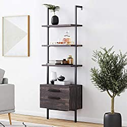 wood  Bookshelf  for office and living roomdecoration