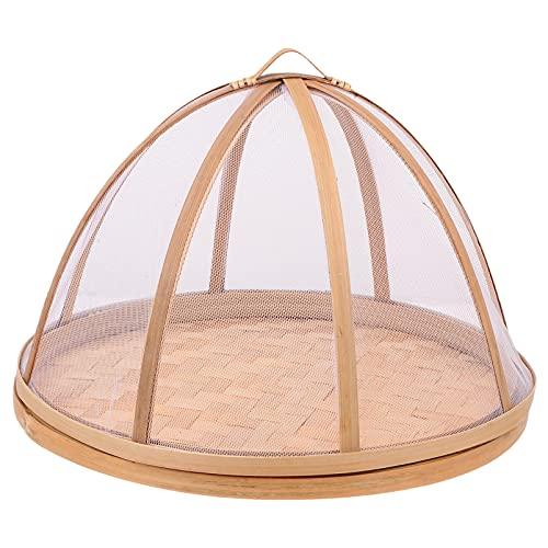 Happyyami Cesta de Mimbre de Bambú Cesta de Frutas Cesta para Servir Alimentos Platos para Pan Cesta de Verduras Hecha a Mano a Prueba de Insectos Cesta de Almacenamiento de Alimentos