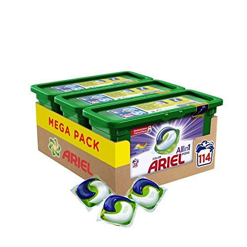 Ariel All-in-1 PODS Color Farbschutz, 114 Waschladungen