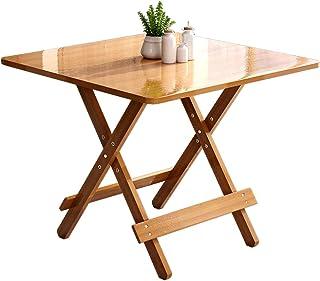 HX Portable Et Pliable Table Simple Table Pliante Table À Manger Maison Petit Appartement Table Ronde Table Carrée A+ (Cou...