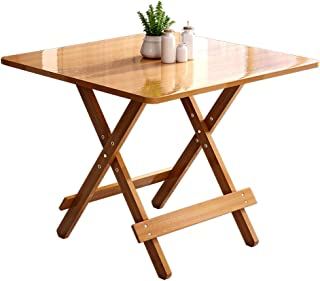 HX Portable Et Pliable Table Simple Table Pliante Table À Manger Maison Petit Appartement Table Ronde Table Carrée A+ (Cou...