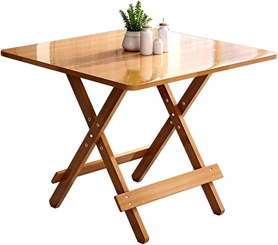 Table pliante ZB Portable Et Pliable Table Simple Table à Manger Maison Petit Appartement Table Ronde Table Carrée A+ (Couleur   A, Taille   80)