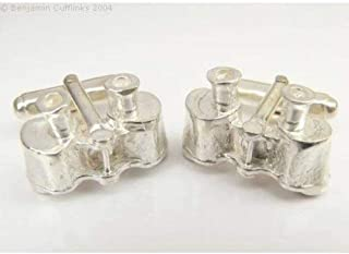 Solid Silver Binoculars Cufflinks