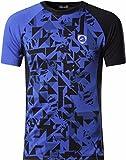 jeansian Men's Sport Quick Dry Fit Short Sleeves Men T-Shirts Tee Shirt Tshirt Tops Golf Tennis Running LSL193_Blue_M