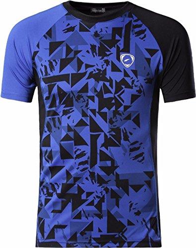 jeansian Men's Sport Quick Dry Fit Short Sleeves Men T-Shirts Tee Shirt Tshirt Tops Golf Tennis Running LSL193_Blue_L