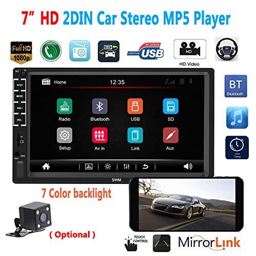 EDtara Geschenk für männer,Auto Radio - Bluetooth MP5 Spieler USB Flash N7 2DIN 7 Zoll Ohne Kamera