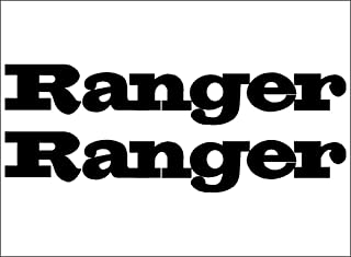 Ranger BLACK-Boats-Logo-PAIR-vinyl-decal-sticker-vehicle-graphics-replacement-decal