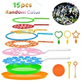 B bangcool Bubble Wands Set - Big Bubbles Wand Funny Bubbles Maker with Tray, Nice for Outdoor...