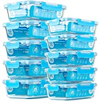 10-Piece C CREST Glass Food Storage Containers with Lids