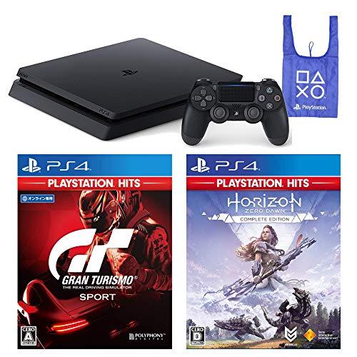 PlayStation 4 グランツーリスモSPORT Horizon Zero Dawn Complete Edition オリジナルデザインエコバッグ セット (ジェット・ブラック) (CUH-2200AB01)