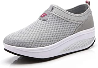 Bonrise Women's Wedges Platform Sneaker Slip-On Mesh Walking Shoes Lightweight Nurse Casual Moccasin Loafers Driving Shoes