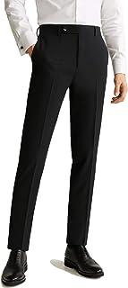 2K Store Men`s Dress Pants, Casual Stretch Flat-Front Skinny Business Pencil Long Pants Trousers Pocket